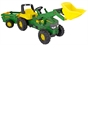 John Deere Large Tractor with Loader and Trailer
