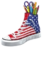 American Flag Sneakers 108pc 3D Jigsaw Puzzle