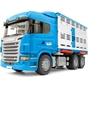 Bruder 1:16 Scania R-Series Cattle Transporter Truck with 1 Cow