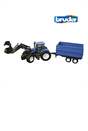 Bruder 1:16 New Holland T8040 Tractor with Front Loader and Trailer