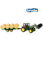 Bruder 1:16 John Deere 6920 Tractor & Loader with Bale Trailer